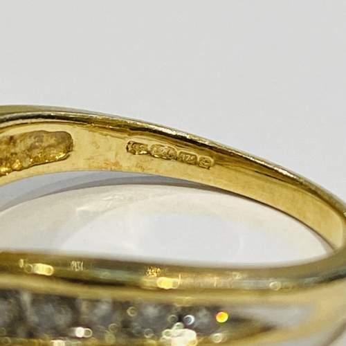 9ct Gold Vintage Shaped Diamond Ring image-4