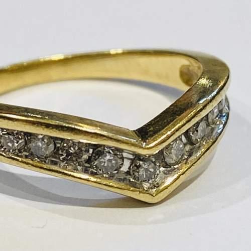 9ct Gold Vintage Shaped Diamond Ring image-2