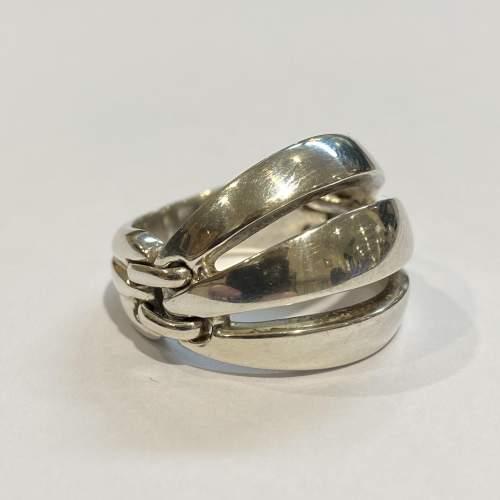 Georg Jensen Silver Melon Ring image-1