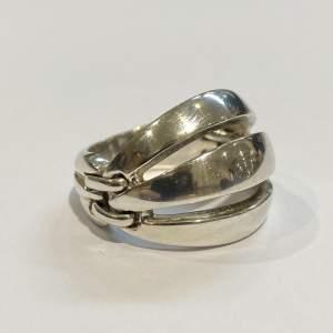 Georg Jensen Silver Melon Ring