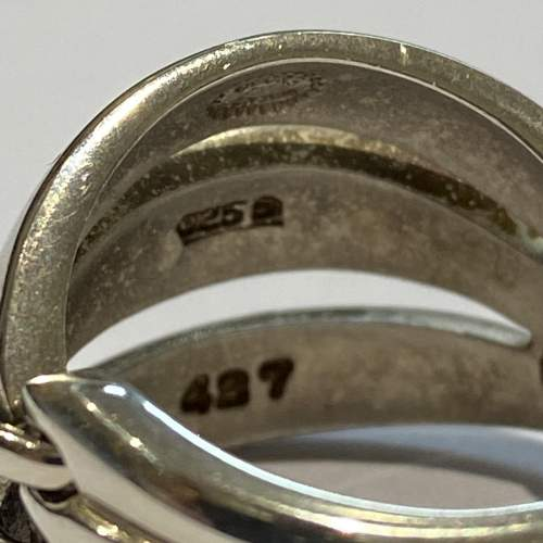 Georg Jensen Silver Melon Ring image-4