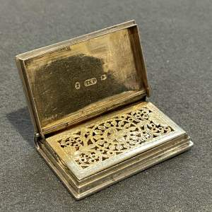 William IV Silver Book Vinaigrette
