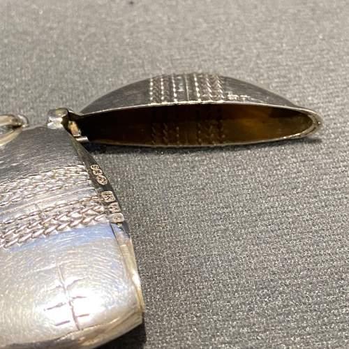 Edwardian Silver Cricket Ball Vesta Case image-4