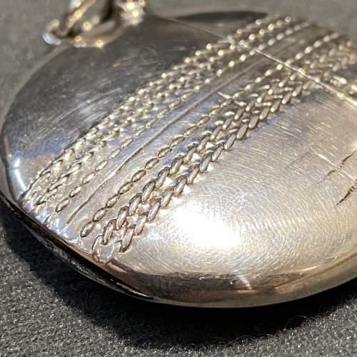 Edwardian Silver Cricket Ball Vesta Case image-5