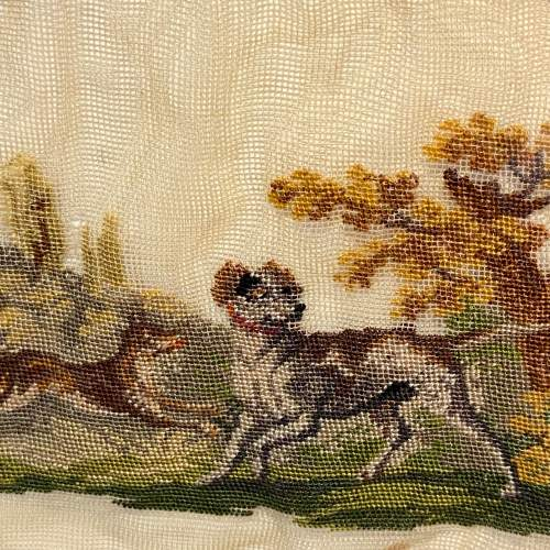 19th Century Hunting Scene Lace Panel image-3