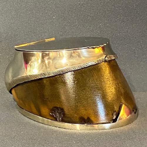 Victorian Silver Plated Horse Hoof Desk Tidy image-1
