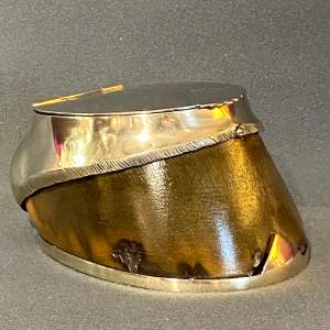 Victorian Silver Plated Horse Hoof Desk Tidy