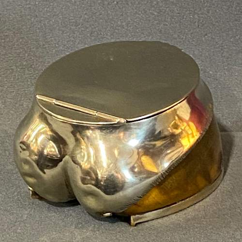 Victorian Silver Plated Horse Hoof Desk Tidy image-3