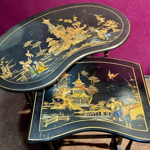 Edwardian Nest of Four Chinoiserie Decorated Tables image-3