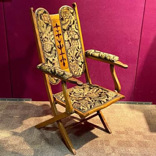 Edwardian Folding Upholstered Chair image-1