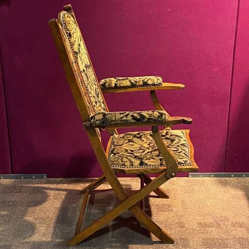 Edwardian Folding Upholstered Chair image-2