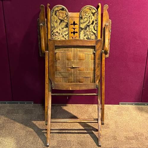 Edwardian Folding Upholstered Chair image-4