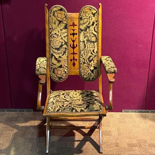 Edwardian Folding Upholstered Chair image-3