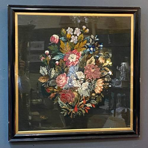 Framed Victorian Needlework Panel image-1
