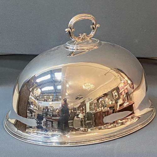 19th Century Elkington and Co Silver Plated Meat Cover image-1
