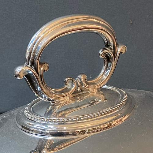 19th Century Elkington and Co Silver Plated Meat Cover image-2
