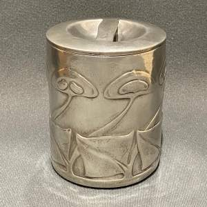 Liberty and Co Archibald Knox Tudric Pewter Tobacco Pot