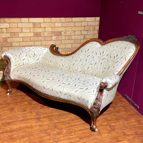 Good Quality Mid Victorian Chaise Longue image-4