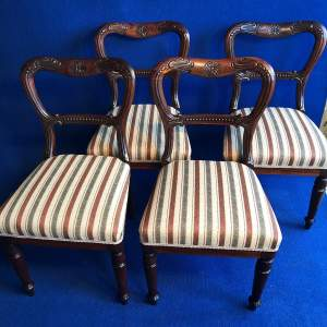 Set of Four Early 19th Century Fine Quality Rosewood Dining Chairs