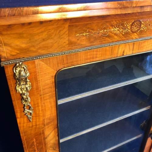 Victorian Burr Walnut Pier Cabinet image-3
