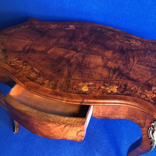 French Inlaid Walnut Centre Table image-3