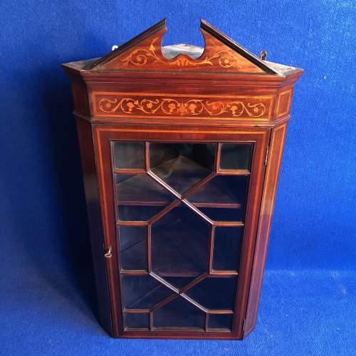 Edwardian Mahogany Corner Cabinet image-1