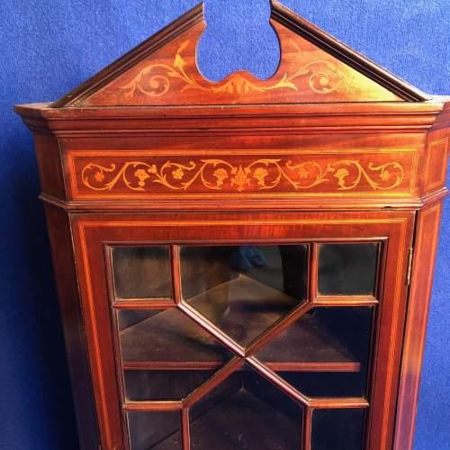 Edwardian Mahogany Corner Cabinet image-2