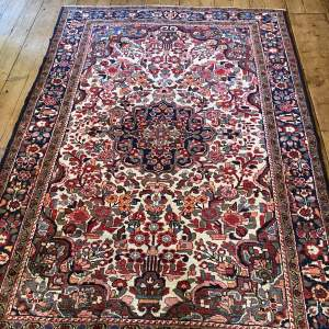 Superb Old Hand Knotted Persian Rug Baktihari Floral Medallion