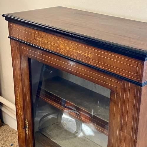 Victorian Inlaid Walnut Pier Cabinet image-2