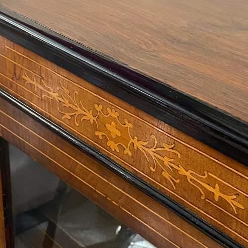 Victorian Inlaid Walnut Pier Cabinet image-6