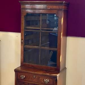 19th Century Glazed Mahogany Cupboard
