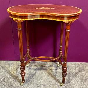 Fine Early 20th Century Mahogany Kidney Shaped Occasional Table