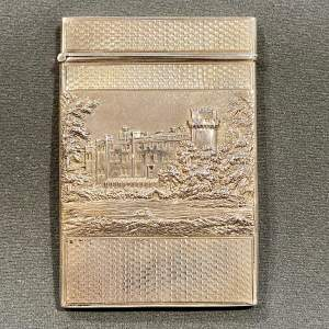 Early Victorian Silver Double Castle Top Card Case