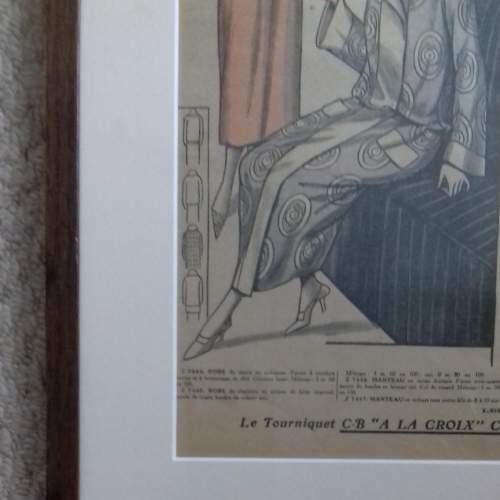 Original Page of Le Petit Echo de la Mode Newspaper 1924 image-2