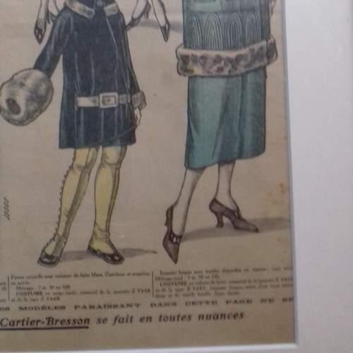 Original Page of Le Petit Echo de la Mode Newspaper 1924 image-3