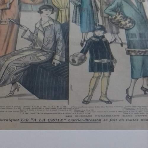 Original Page of Le Petit Echo de la Mode Newspaper 1924 image-6