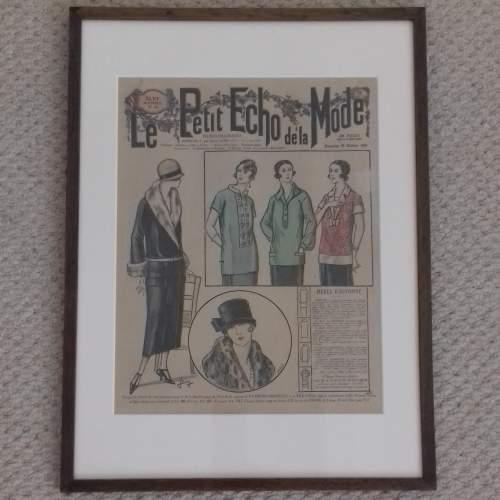 Original Front Page of Le Petit Echo de la Mode Newspaper 1924 image-1