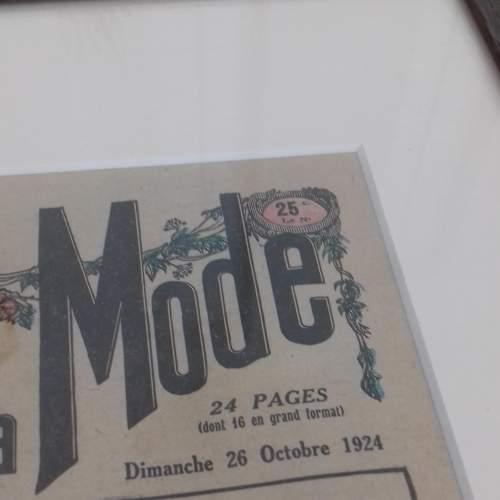 Original Front Page of Le Petit Echo de la Mode Newspaper 1924 image-2