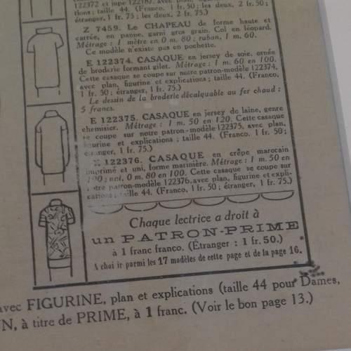 Original Front Page of Le Petit Echo de la Mode Newspaper 1924 image-3