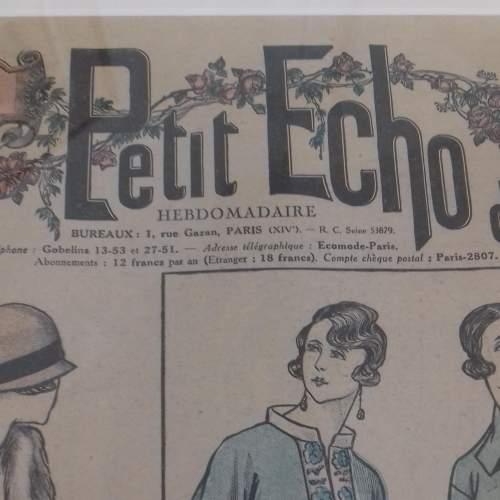 Original Front Page of Le Petit Echo de la Mode Newspaper 1924 image-4