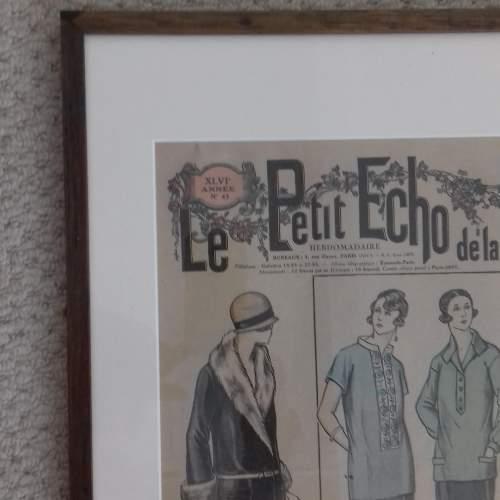 Original Front Page of Le Petit Echo de la Mode Newspaper 1924 image-5