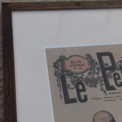 Original Front Page of Le Petit Echo de la Mode Newspaper 1924 image-6