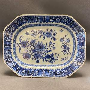 Chinese Export 18th Century Blue and White Platter