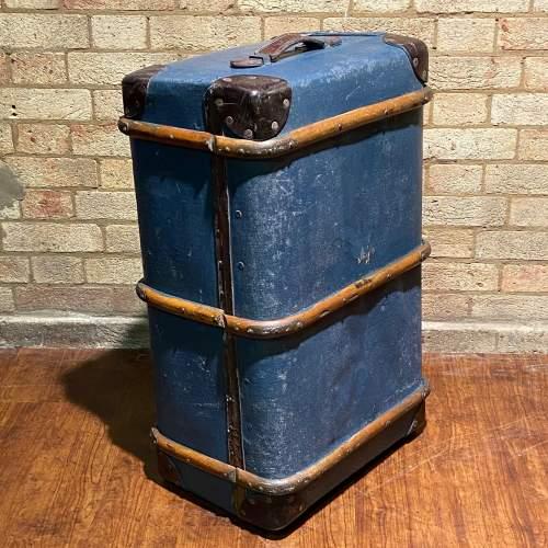 Vintage Bentwood Bound Steamer Trunk image-4