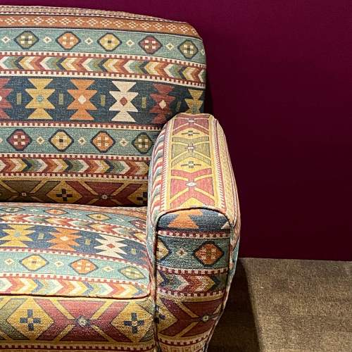Original Art Deco Two Seater Drop-Arm Sofa image-2
