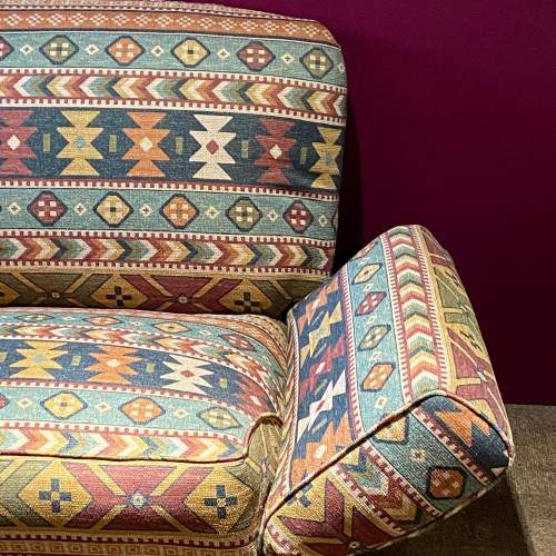 Original Art Deco Two Seater Drop-Arm Sofa image-3