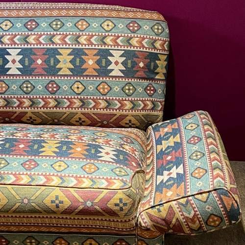 Original Art Deco Two Seater Drop-Arm Sofa image-4