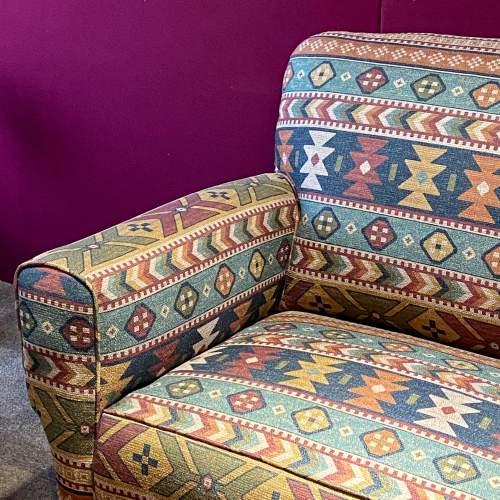 Original Art Deco Two Seater Drop-Arm Sofa image-5