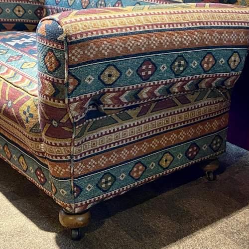 Original Art Deco Two Seater Drop-Arm Sofa image-6