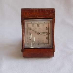 Goldsmiths and Silversmiths 1930s Travel Alarm Clock
